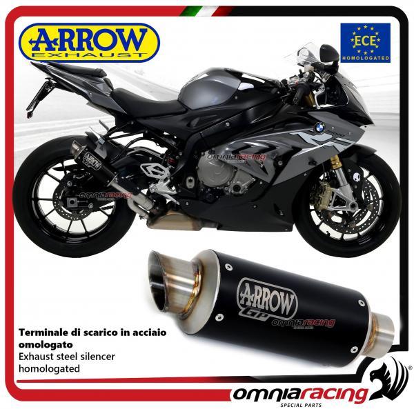 arrow exhaust gp2 slipon steel black silencer homologated for bmw s1000rr 2017 18