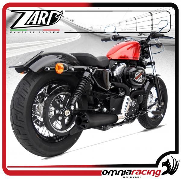 zard cross black racing for harley davidson sportster 883 1200 03 13 full exhaust system
