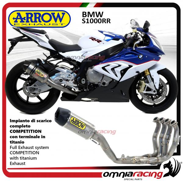 arrow full exhaust system competition full titanium for bmw s1000rr 2015 2016