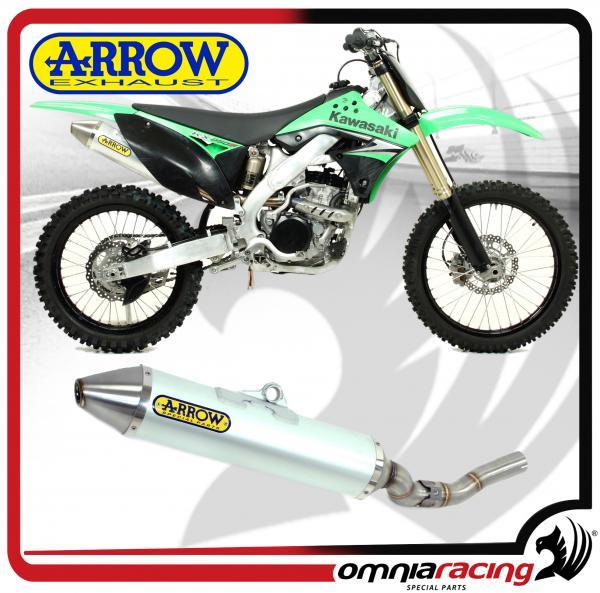 arrow exhausts thunder aluminium silencer not homologated for kawasaki kx 250 f 2009 2013
