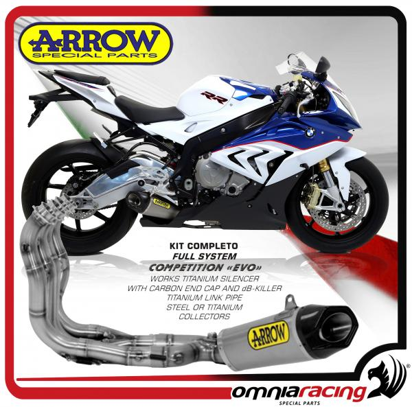 arrow competition evo full titanium for bmw s1000rr 2015 15 full exhaust system