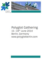 The program for the Polyglot Gathering in Berlin in June 2014