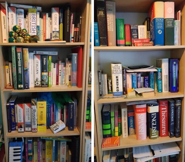 Shelfie of some of my language books