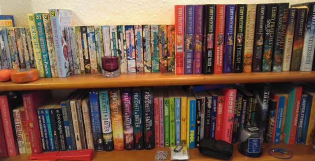 Shelfie of some of my favourite fiction books
