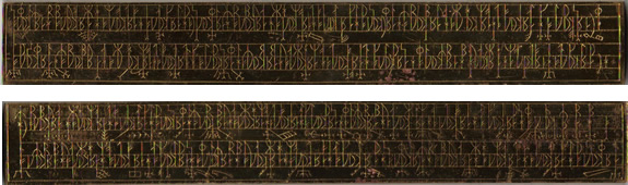 Mystery Runic inscription on gold bar