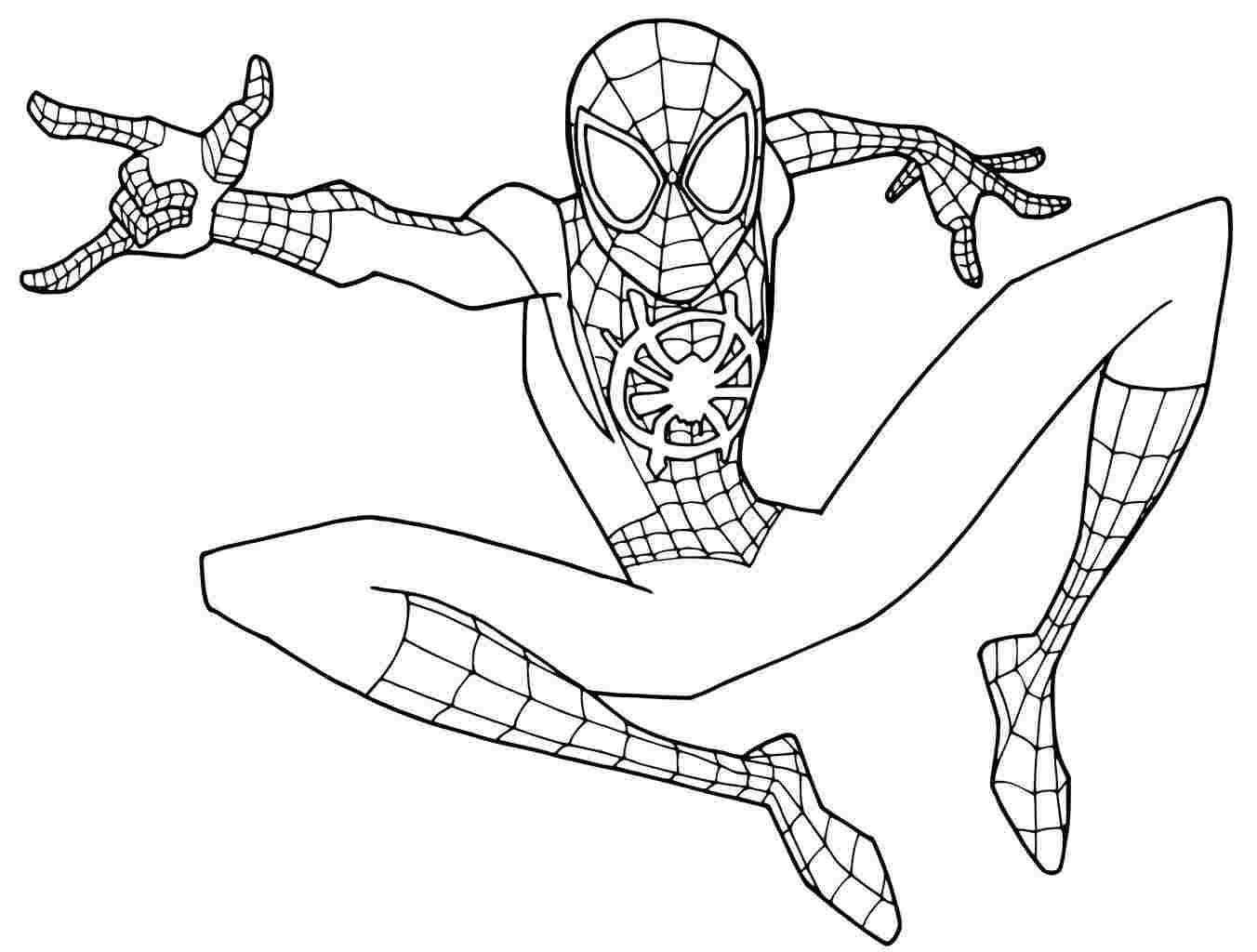 Kleurplaat Spiderman Homecoming