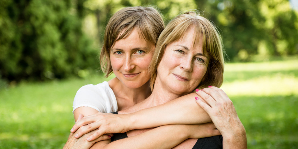 Mother & Daughter Hugging