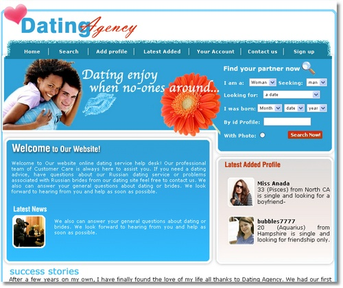 Free dating site template 1