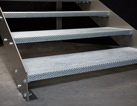Steel Stair Treads Omni Steel Supply   Steel Steps For Stairs   Chequer Plate   Fabricated   Wire Mesh   Prefabricated   Corrugated Metal
