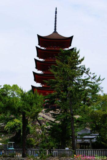 Japon - Île de Miyajima - Pagode