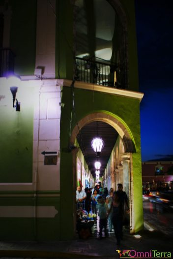 Mexique - Campeche - Rue la nuit