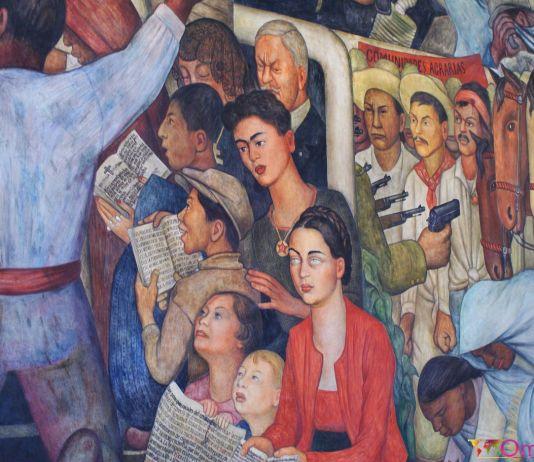 Mexique - Mexico - Palais national - Fresque