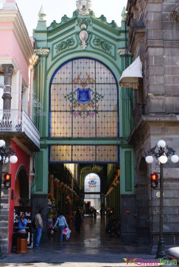 Mexique - Puebla - Rue piétonne