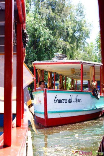 Mexique - Xochimilco - Bateau Crucero del Amor