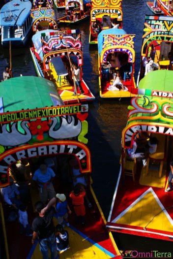 Mexique - Xochimilco - Bateaux