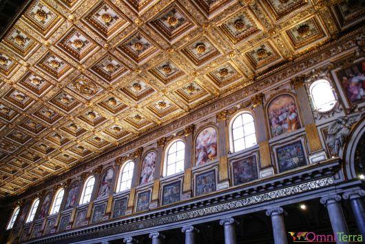 Rome - Basilique Sainte Marie Majeure - Plafond à caissons