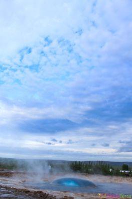Islande - Geysir - Explosion geyser 2