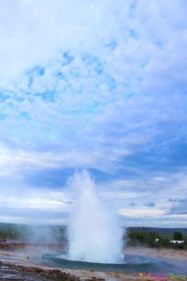 Islande - Geysir - Explosion geyser 4