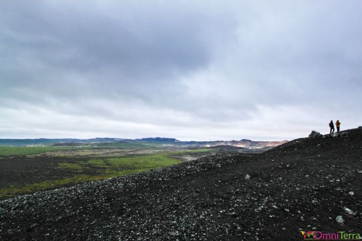 Islande - Lac Myvatn - cratère Hverfjall - paysage