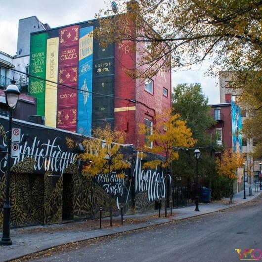 Montreal Street-Art - mural BANQ