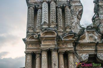 Guatemala - Antigua - Détail église Carmen