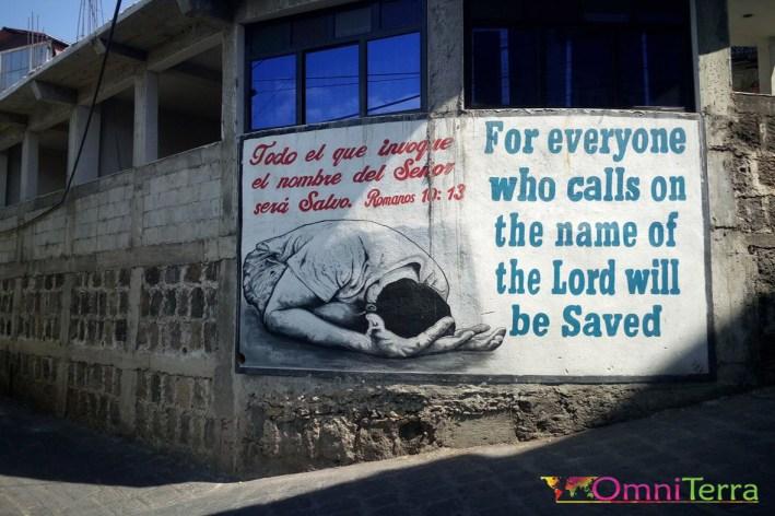Guatemala - San pedro - Street art catholique