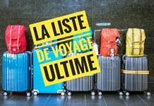 La liste de voyage ultime