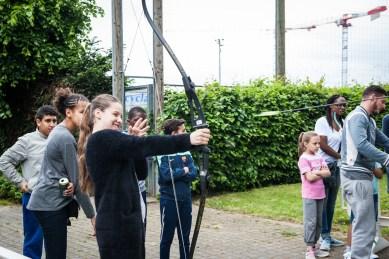 Stand tir à l'arc, festival des sports. Fabrice Gaboriau