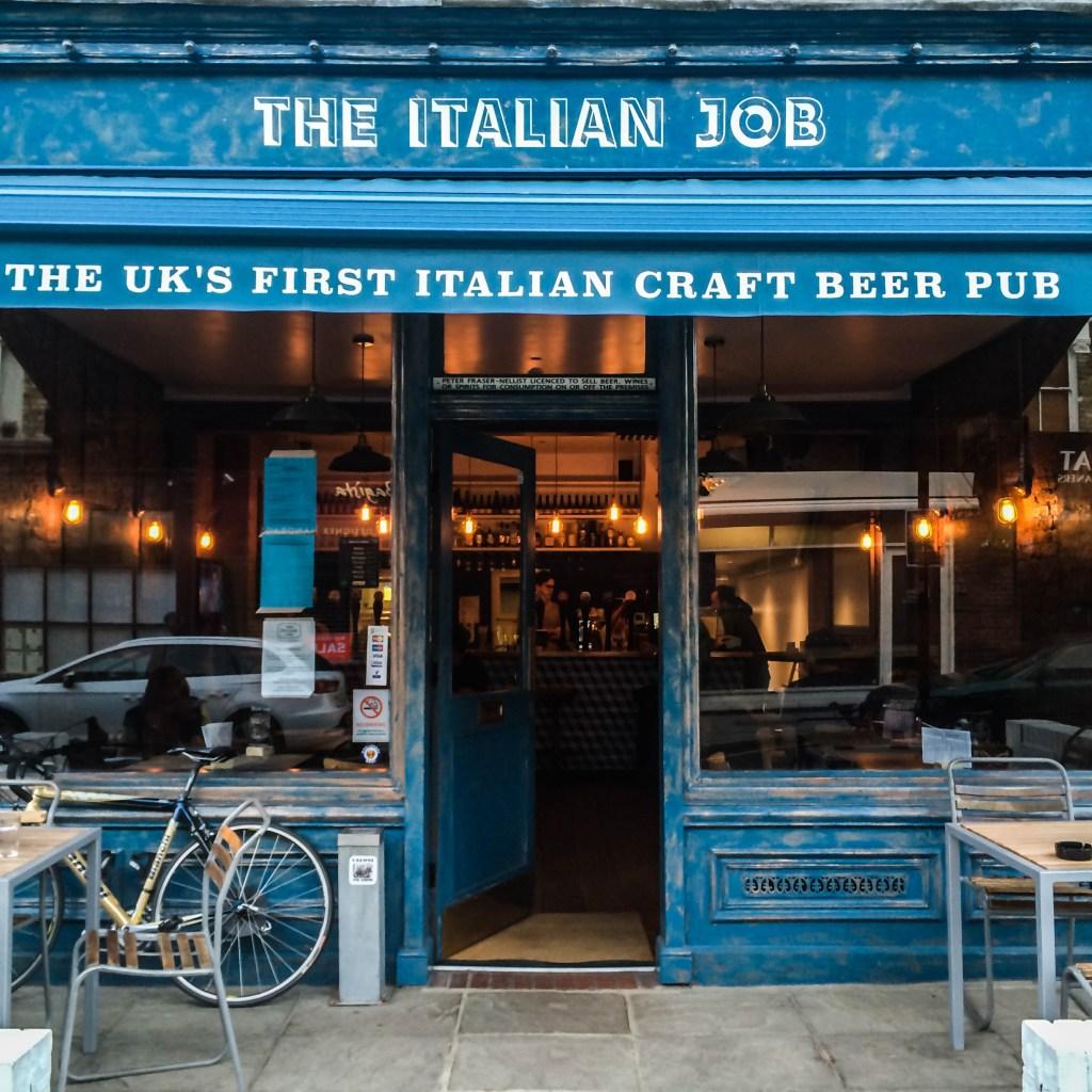 The Italian job- cerveja artesanal italiana em londres