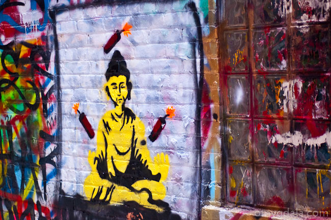 Buddha Graffiti on a Wall