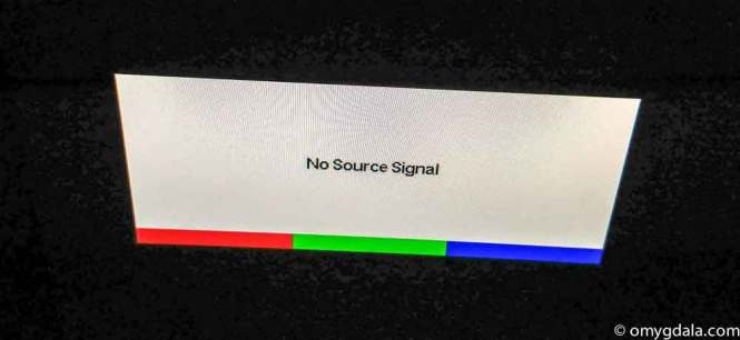 No source signal message from the IT Department