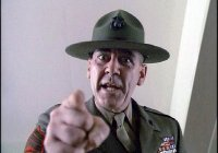 R. Lee Ermey as gunnery sergeant Hartman in Full Metal Jacket.