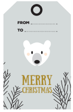 christmas tags polar bear - free printable - ONA Creation - Merry Christmas