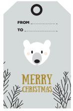 christmas tags polar bear - free printable - ONA Creation - Merry Christmas