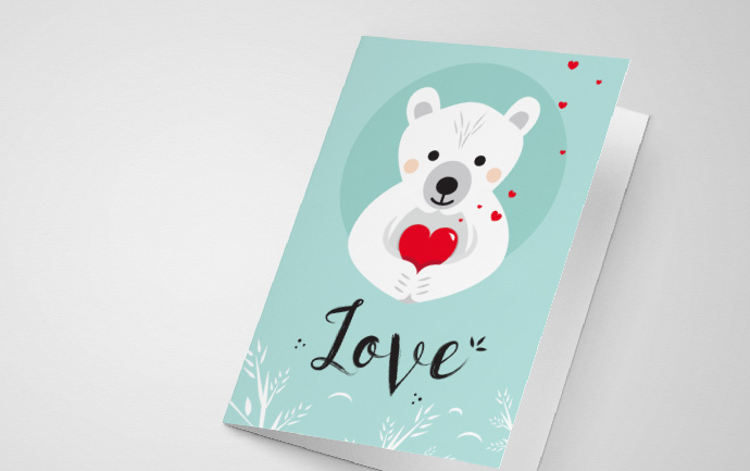 Valentine love card printable
