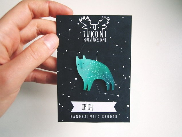 Pins broche cosmic Tukoni - constellations loup stellaire