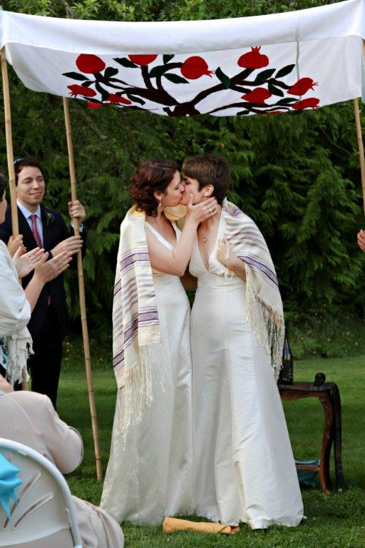 Lesbian Wedding Laura And Rachel A Bicycle Built For Two