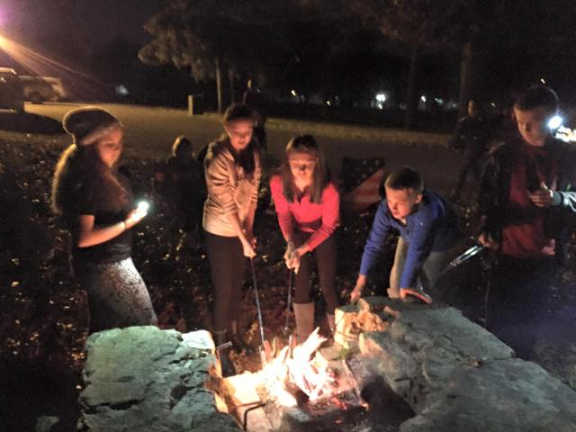 "Confirmation students enjoy a cookout at Rowe Park as they study Jesus' ""Sermon on the Plain"" (Luke 6:17-49)."