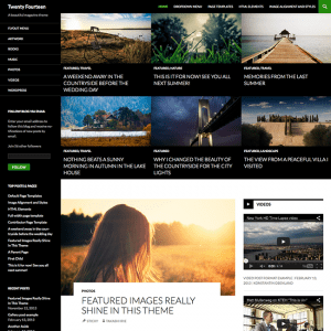 Wordpress 3.8 twenty fourteen wordpress theme