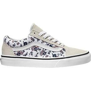 scarpe vans old skool donna fiori