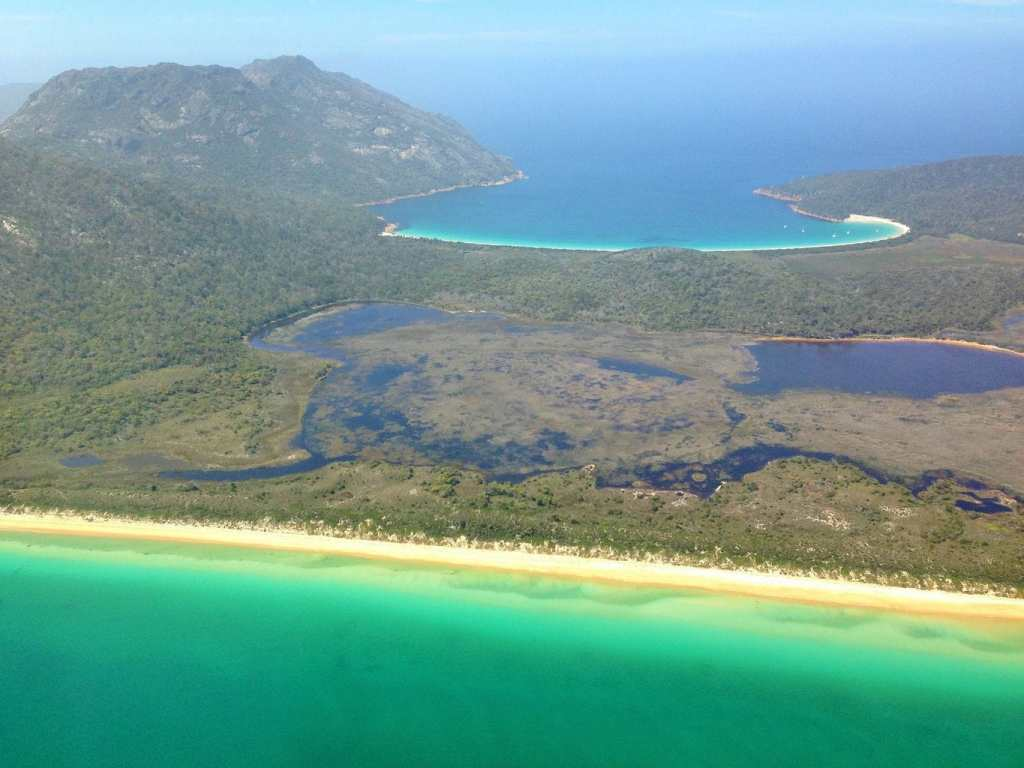 flight over Wineglass Bay