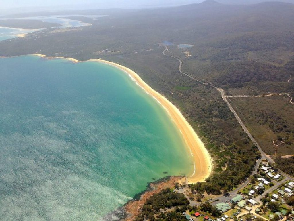 flight over Wineglass Bay