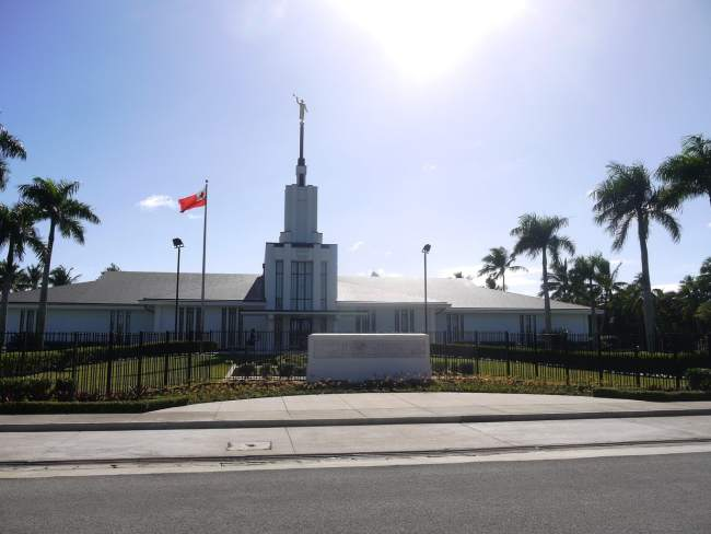 """One of the many Mormon churches in Tonga"""