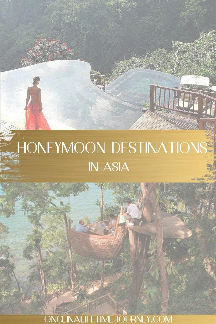 honeymoon destinations in asia pin