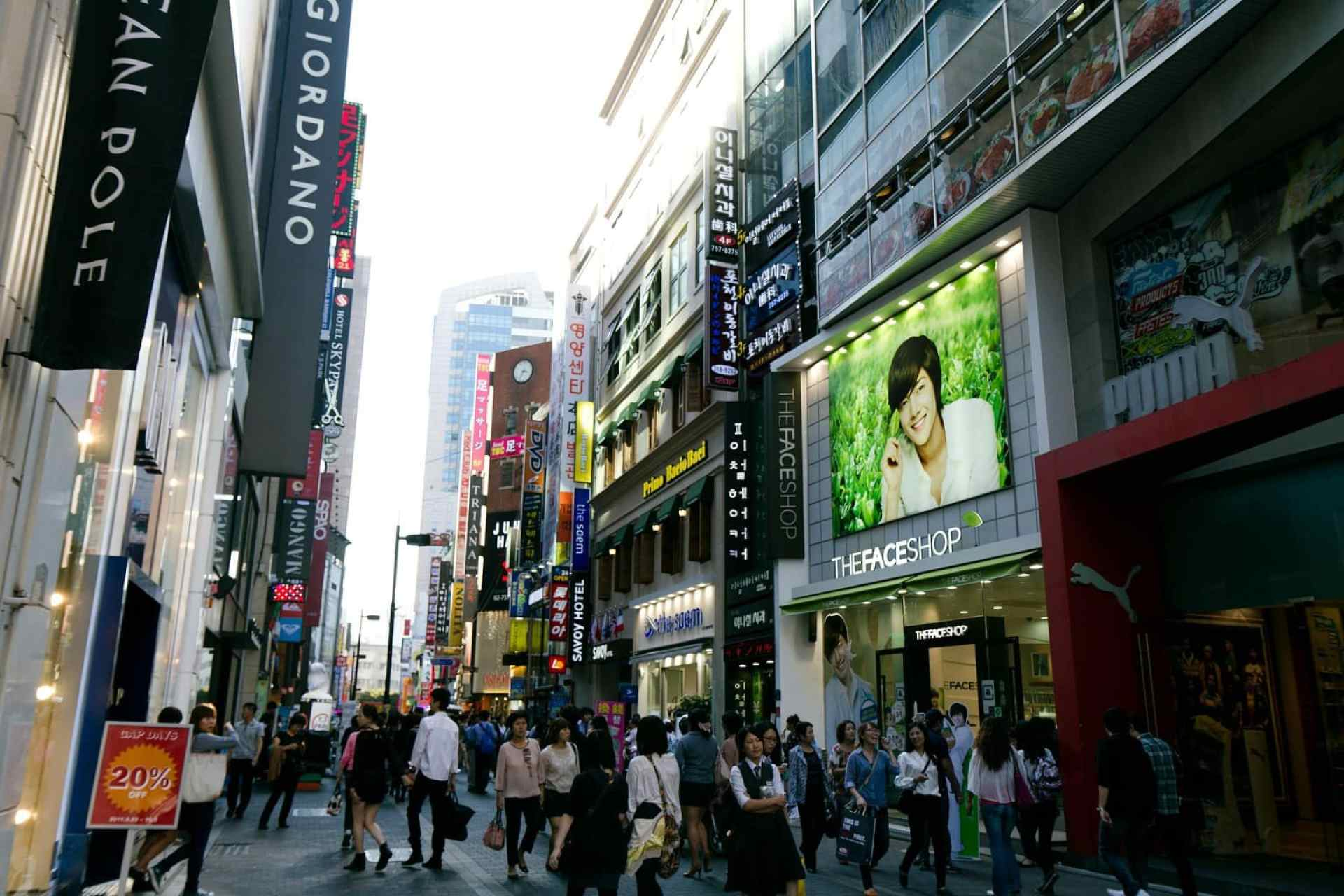 Myeongdong is another shopping mecca