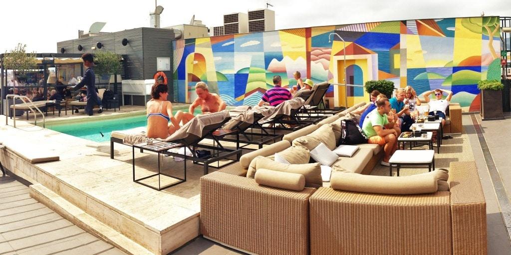 Majestic Hotel Rooftop terrace