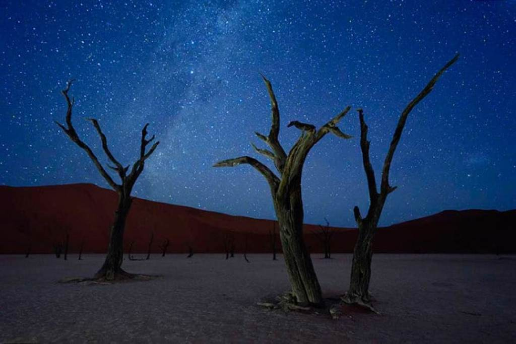 Namibia at night