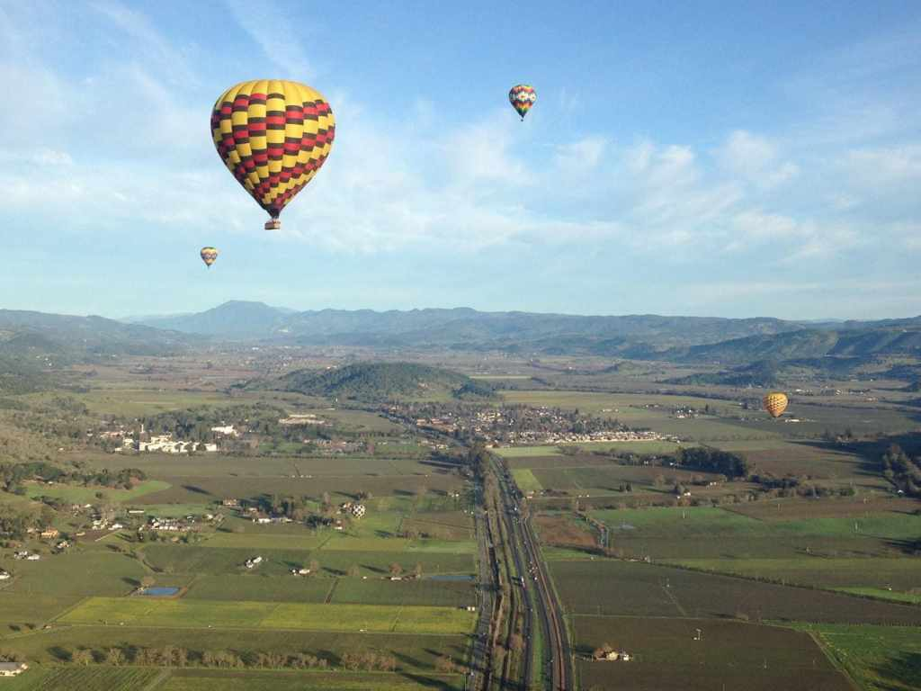 Hot air balloon meet-up