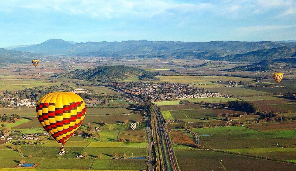 Hot air balloon in Napa