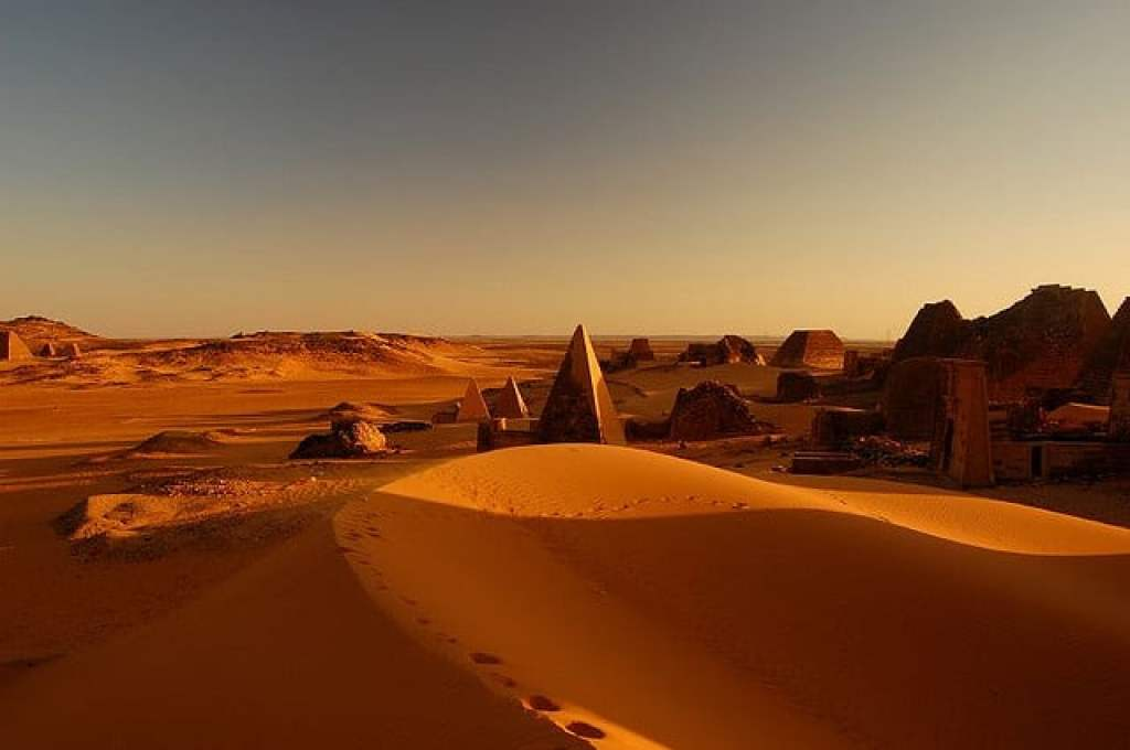 The desert in Sudan